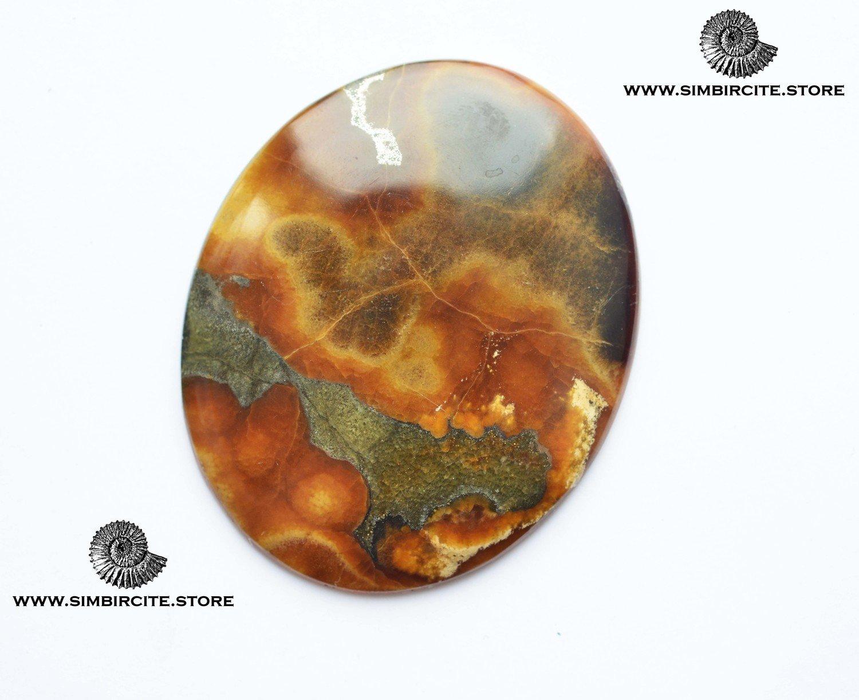Симбирцитовый кабошон 67*55*5 мм
