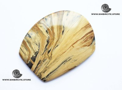 Кабошон из сенгилита 58*47*3 мм