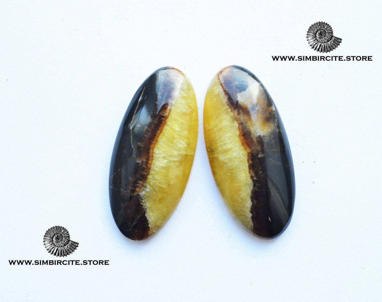 Парные кабошоны Симбирцит 38*18*3 мм