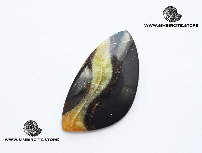 Симбирцитовый кабошон 60*32*4 мм