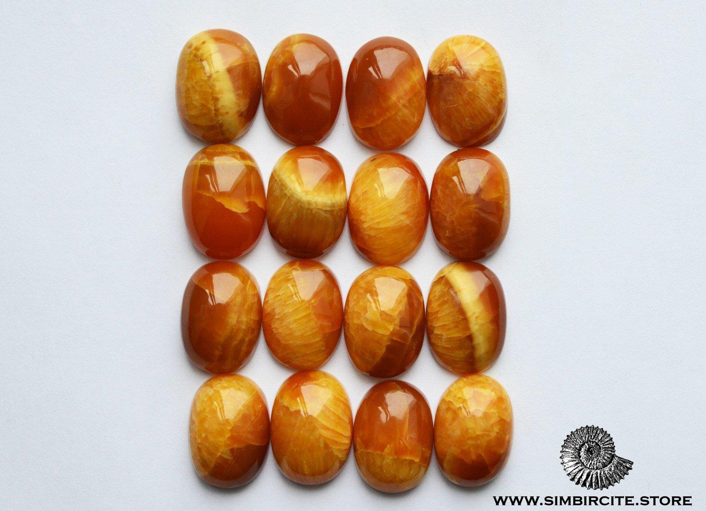 Симбирцит овальный кабошон 14*19 мм