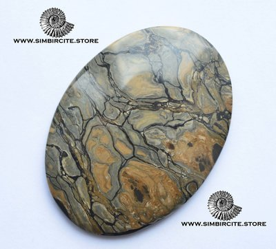 Кабошон из сенгилита 64*48*5 мм