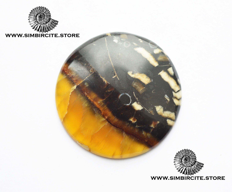 Симбирцитовый кабошон d40*4 мм