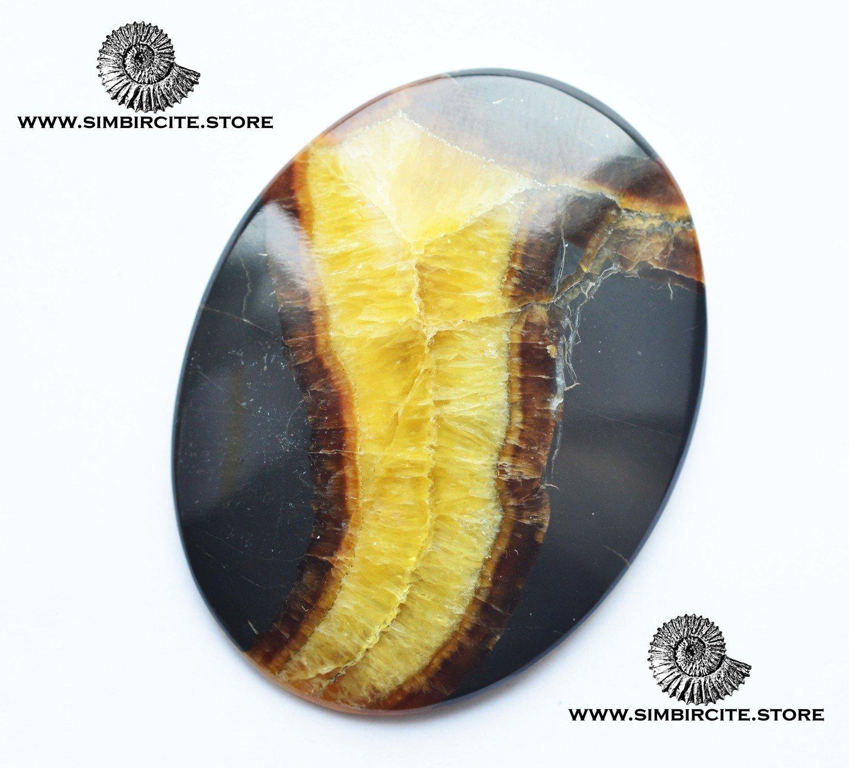 Симбирцитовый кабошон 56*45*5 мм