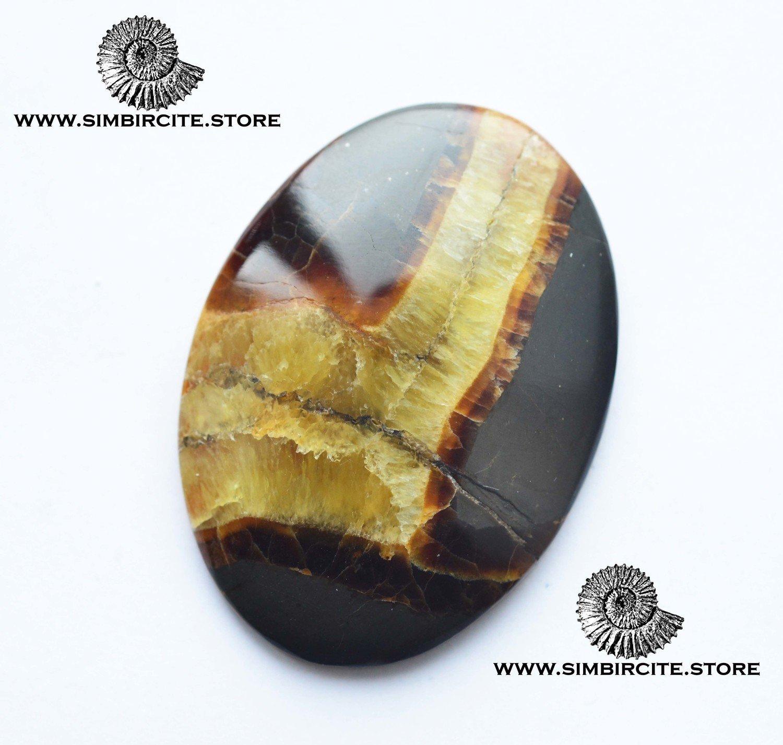 Симбирцитовый кабошон 50*37*5 мм