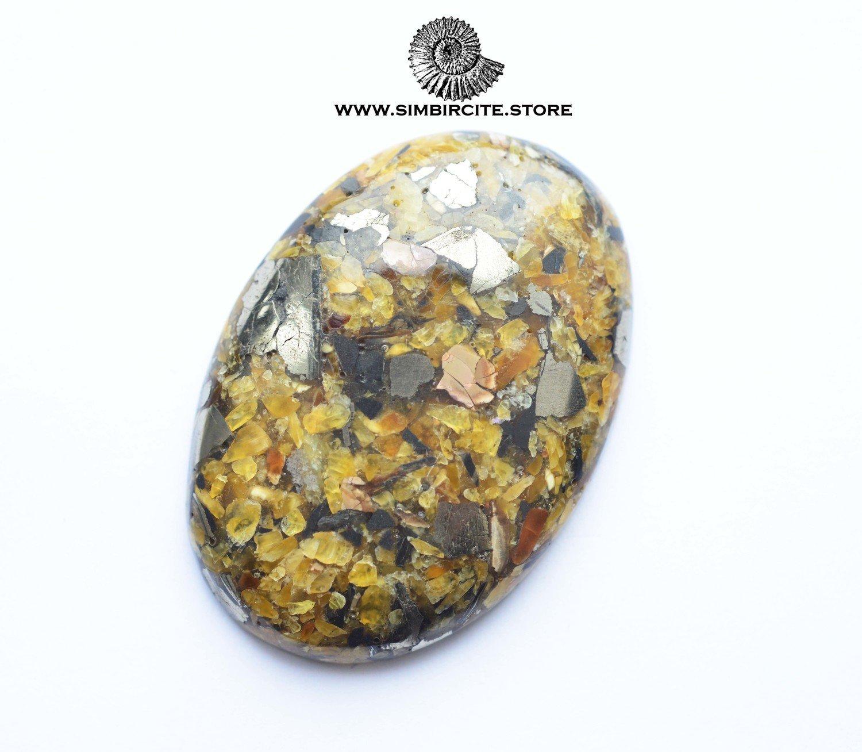 Мозаичный Симбирцит (Владелит) 56*40*7 мм