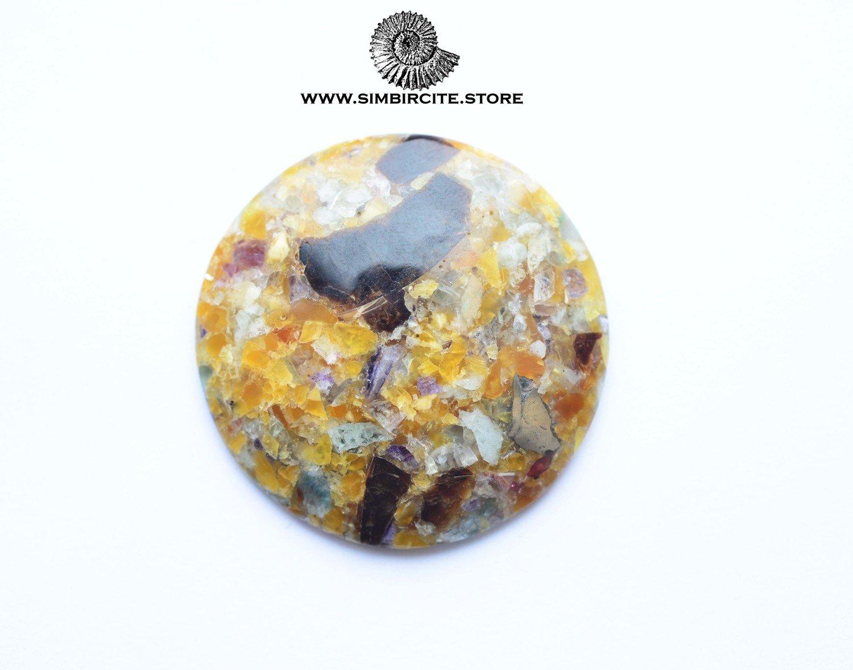 Мозаичный Симбирцит (Владелит) d44*5 мм
