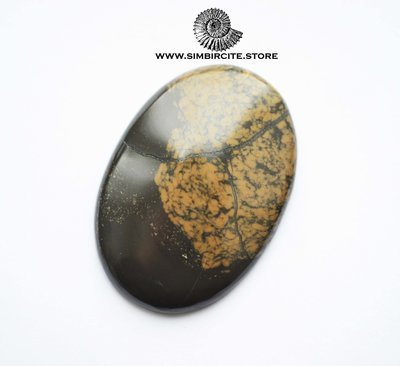 Кабошон из сенгилита 47*33*5 мм