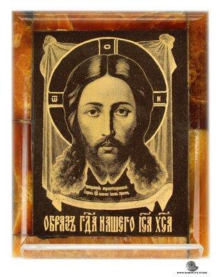 Симбирцитовая икона Спас Нерукотворный образ Иисуса Христа