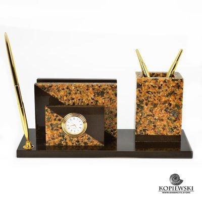 Письменный прибор из  Мозаичного Симбирцита