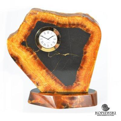 Часы срез симбирцита 20*21 см