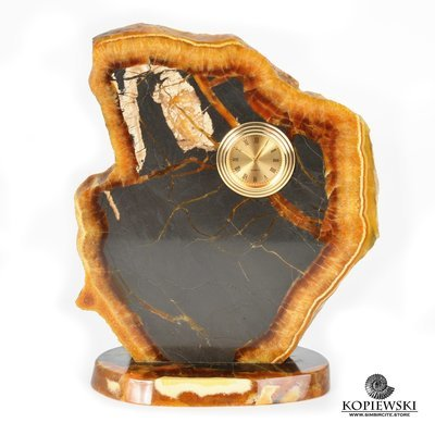 Часы срез симбирцита 15,5*19 см
