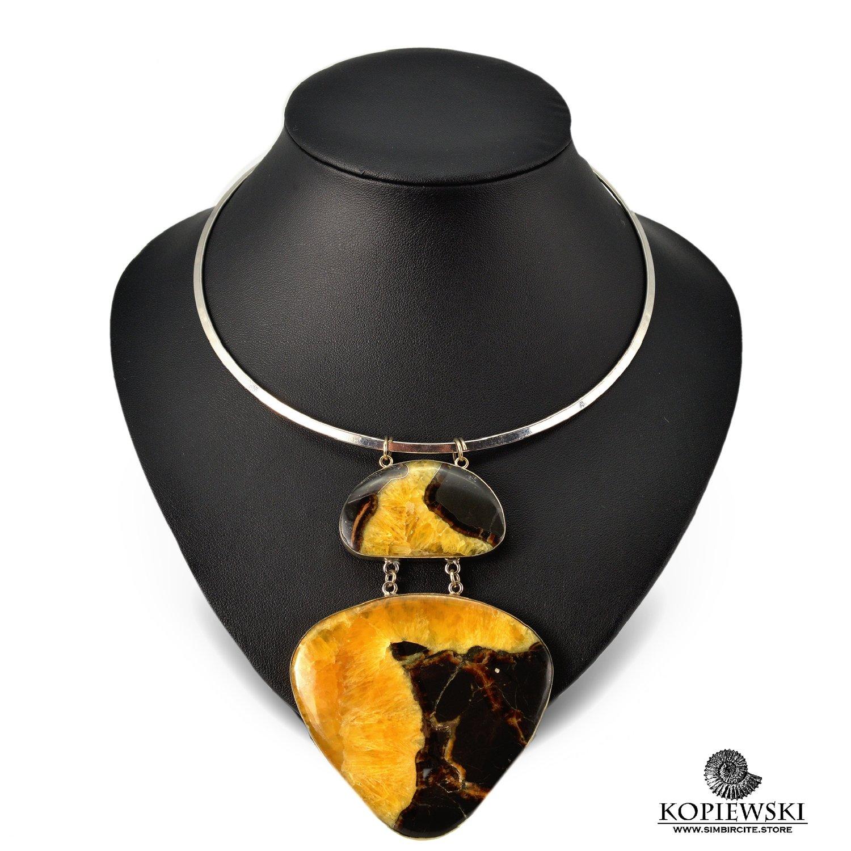 Кулон из натурального камня Симбирцит