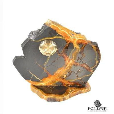 Часы срез симбирцита 20.5*18.5 см