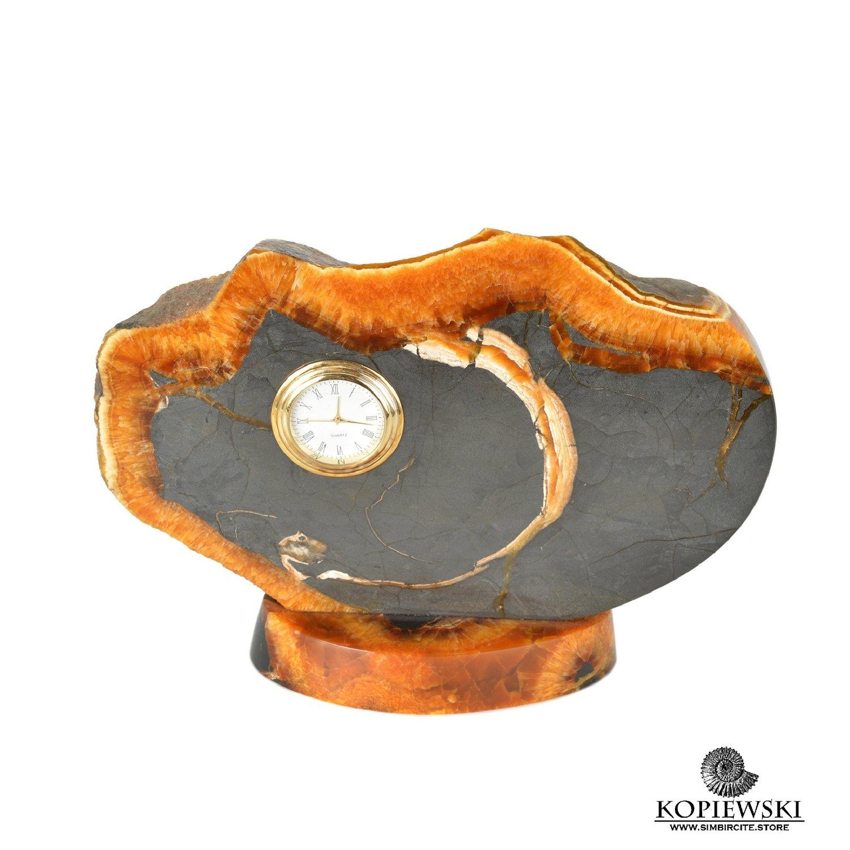 Часы срез симбирцита 20.5*16.5 см