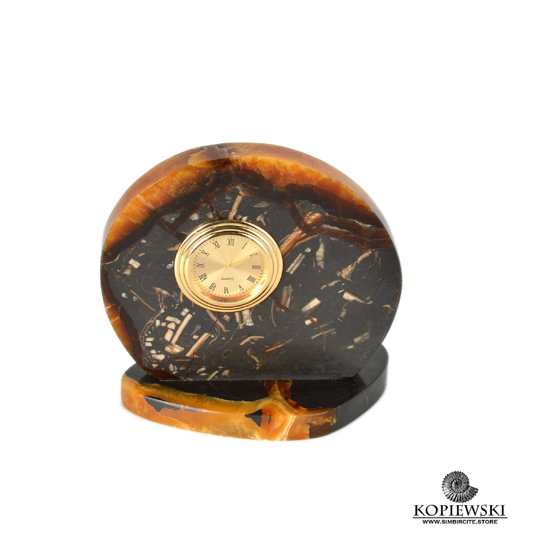 Часы срез симбирцита 11*11 см