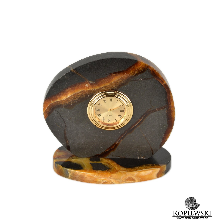 Часы срез симбирцита 11.5*11 см