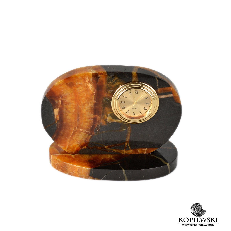 Часы срез симбирцита 12*9.5 см