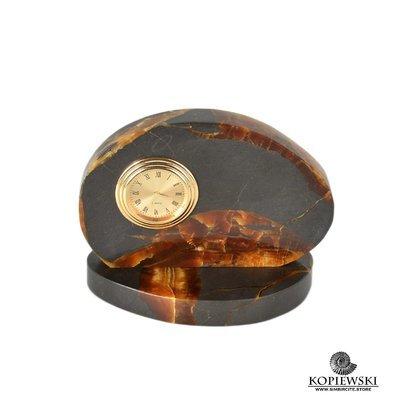 Часы срез симбирцита 12.5*9.5 см