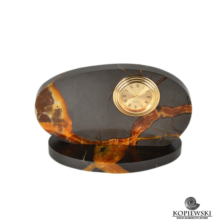 Часы срез симбирцита 13.5*9 см