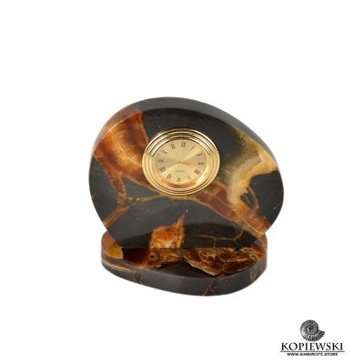 Часы срез симбирцита 10*9.5 см