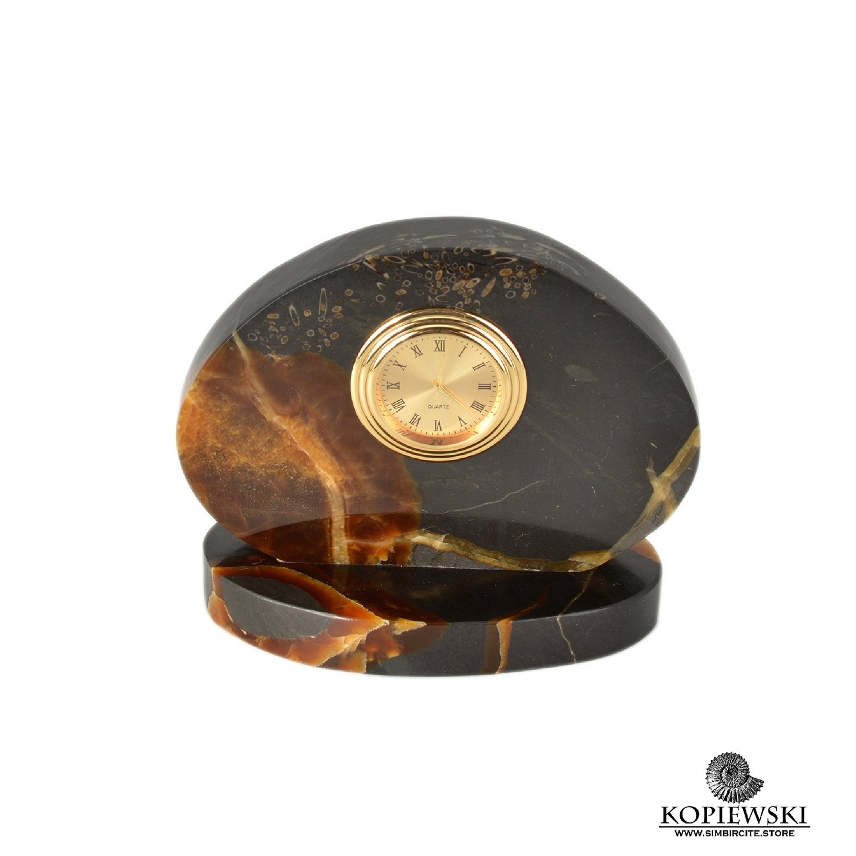 Часы срез симбирцита 12*10 см