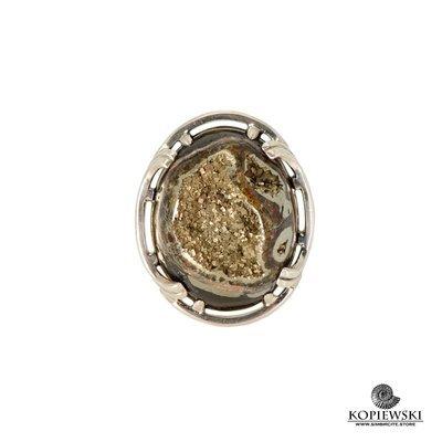 Авторское кольцо с фрагментом аммонита