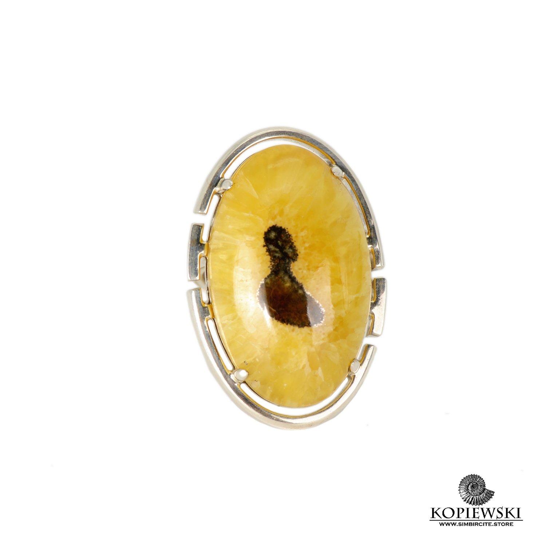 Авторское кольцо с аммонитовым симбирцитом