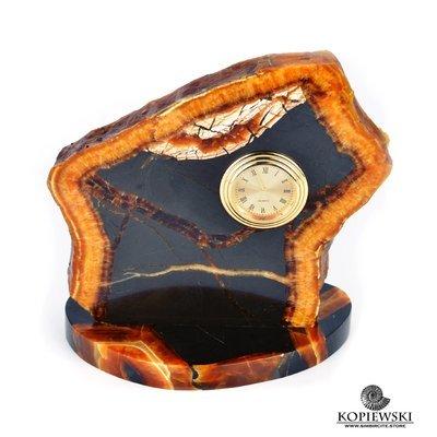 Часы срез симбирцита 14 x 15 cm