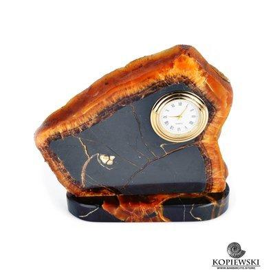 Часы срез симбирцита 13 x 12 cm