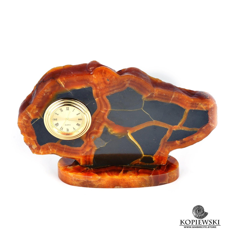 Часы срез симбирцита 17 x 10 cm