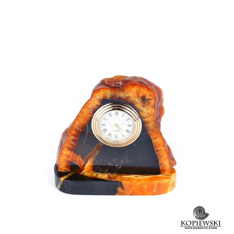 Часы срез симбирцита 10 x 10 cm