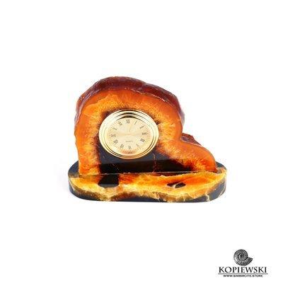 Часы срез симбирцита 11 x 8 cm