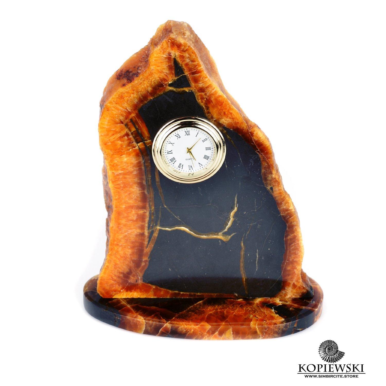 Часы срез симбирцита 13 x 17 cm