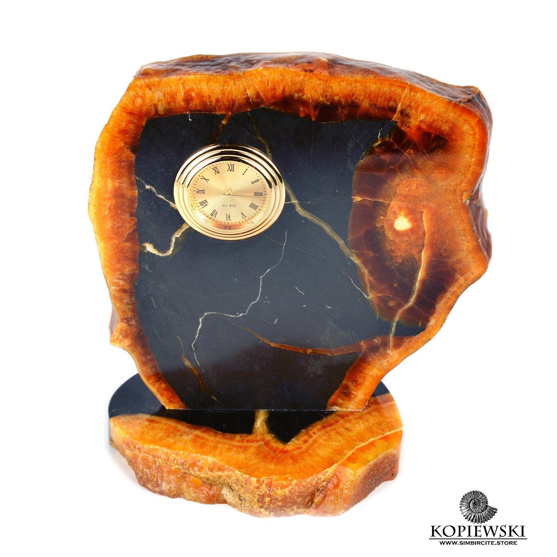 Часы срез симбирцита 14 x 16 cm