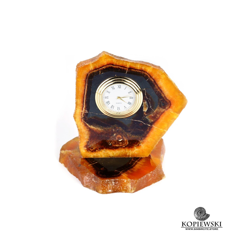 Часы срез симбирцита 9 x 12 cm