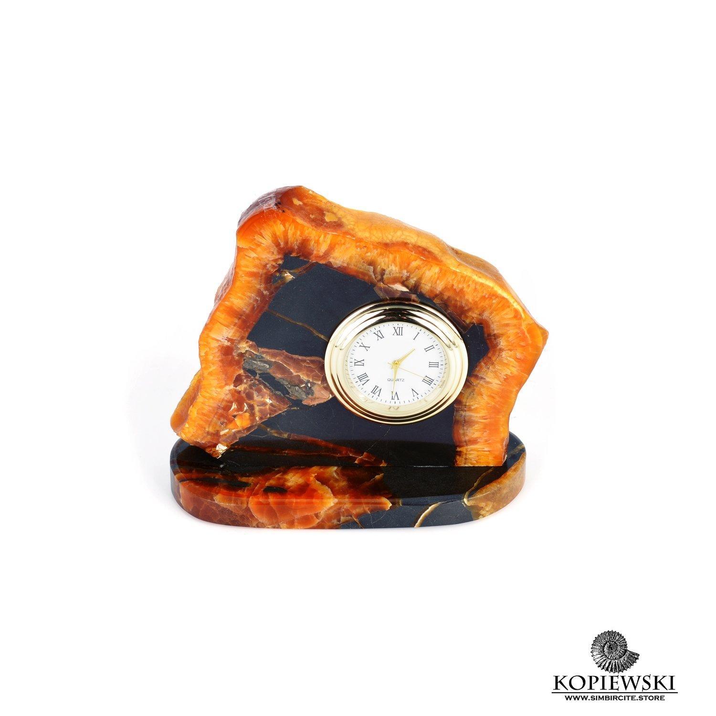Часы срез симбирцита 10 x 9 cm