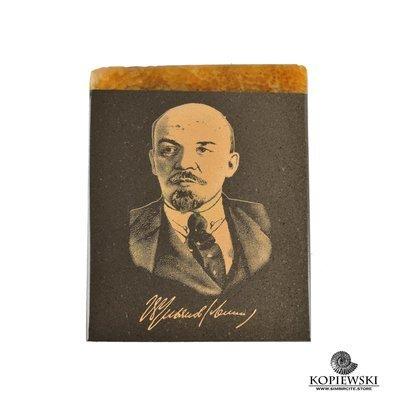 Симбирцитовый магнит с гравировкой В.И.Ленин