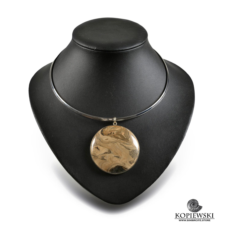 Кулон из натурального камня Сенгилит