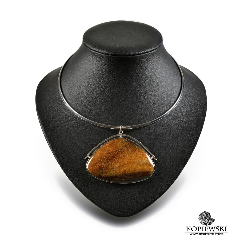 Кулон с камнем Симбирцит
