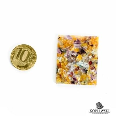 Мозаичный Симбирцит (Владелит) 40*35*3 мм