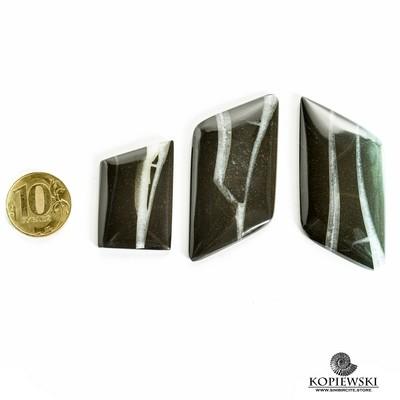Парные кабошоны + кольцо Симбирцит