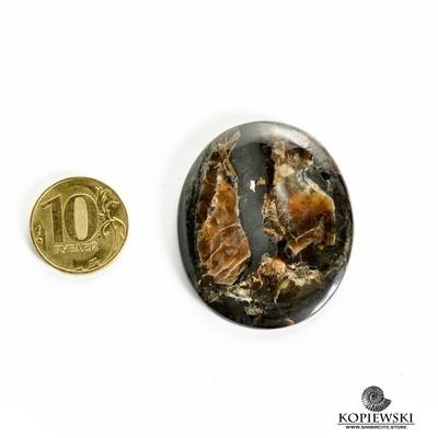 Симбирцитовый кабошон 45*40*3 мм
