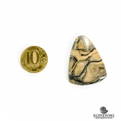 Кабошон из сенгилита 40*30*3 мм