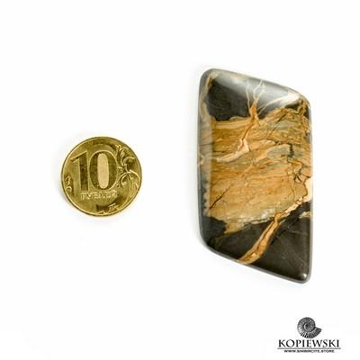 Кабошон из сенгилита 55*30*3 мм