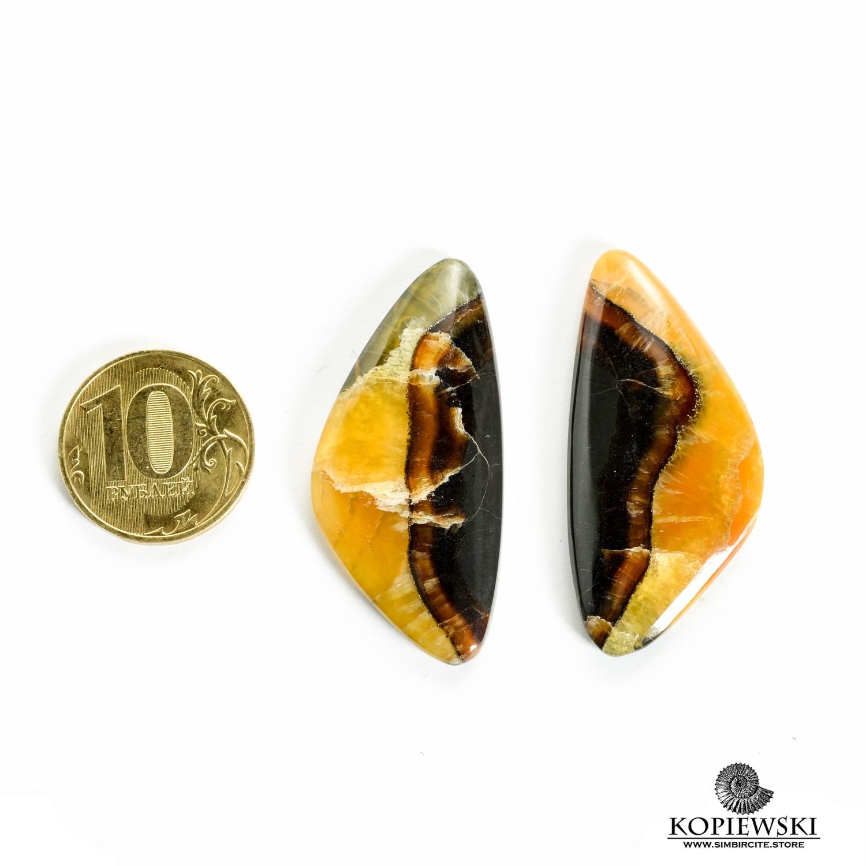 Парные кабошоны Симбирцит 45*20*3 мм