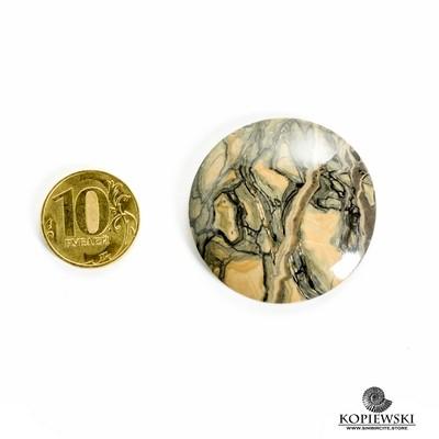 Кабошон из сенгилита 40*40*3 мм