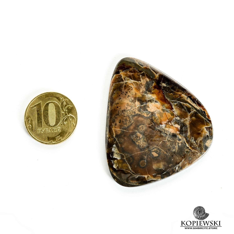 Симбирцитовый кабошон 53*47*3 мм