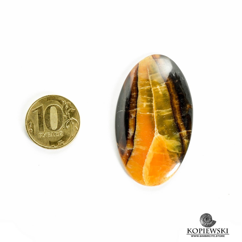 Симбирцитовый кабошон 55*30*3 мм