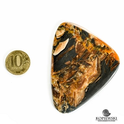 Симбирцитовый кабошон 80*60*3 мм